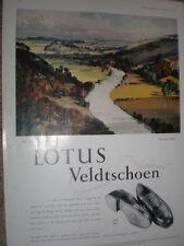 Lotus Veldtschoen shoes the Wye Rowland Hilder art colour advert 1952 refO50s