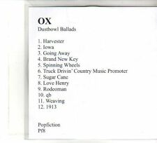 (DW116) OX, Dust Bowl Ballads - DJ CD