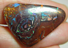 48.7 carat boulder opal, fire & polish both sides, 33 x 24 x 7mm, pattern, color