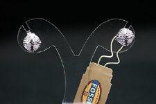 FOSSIL Damen 925 Sterling Silber rhodiert Ohrringe JFS00008  Stein Besatz NEU