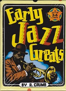 R. CRUMB EARLY JAZZ GREATS - COMPLETE SET OF 36  CARDS IN BOX - LATEST EDITION