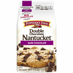 Nantucket Crispy Double Chocolate Chunk Cookies, 7.75 oz. Bag