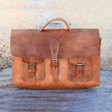 Aktentasche Schultasche Lehrertasche Umhängetasche Leder-Tasche Vintage 27 NEU!