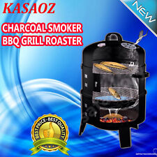 Charcoal Smoker Euro-Grille 4in1 BBQ Grill Roaster Portable Steel Steamer