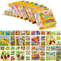 3D Wooden Animal Puzzle Blocks Jigsaw Kids Baby Early Learning Educational Toy