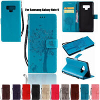 For Samsung Galaxy Note 5 8 9 PU Leather Case Wallet Bumper Magnetic Folio Cover