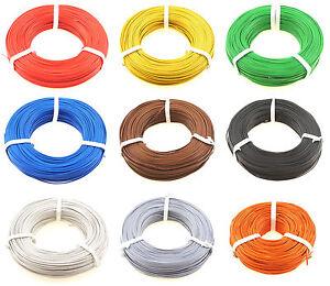 5 m / 100 m Zwillingslitze 0,14 mm² (Kupferlitze), 2-adrig, einfarbig - Farbwahl