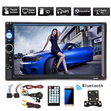 "7"" 2 DIN Auto Car MP5 MP3 Player Bluetooth Touch USB FM Stereo Radio + Camera"