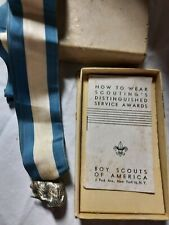 Boy Scouts Of America Vintage Sterling Silver Beaver Award With Ribbon Bsa Sb3