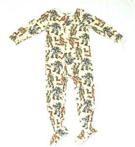 Carters Fleece Footed pajama Blanket Sleeper Size 6 7 8 10 12 14 Robots Machines