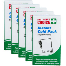 NEW 5 Pack First Aiders Choice Instant Cold Packs Small Single Use BULK