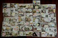 Cartographic trade cards c.1880's lot of 50 Arbuckle coffee world geography