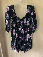 Women's Plus Size Torrid Opwn Shoulder Floral Dress Size 4