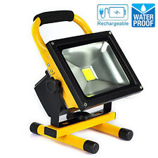 30W Portable Rechargeable Battery LED Work Light Cool White Floodlight Charger