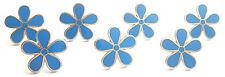 MASONIC SET OF 7 FLOWER FORGET ME NOT 11MM ENAMEL LAPEL PIN BADGES