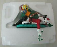 Vintage Looney Tunes Silvester & Tweety Bird Christmas Shelf Ornament in box