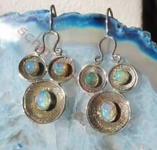 Ohrring Gesicht Augen äthiopischer Opal Stein d Oktober vergoldet Silber 925