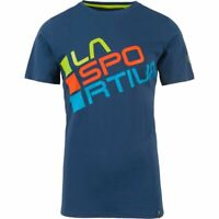 LA Sportiva Crew Neck Activewear Top T Shirt Womens Ladies Size Small Blue *16