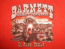 Harley-Davidson Motorcycles Barnett El Paso TX Orange Graphic T Shirt - Youth L
