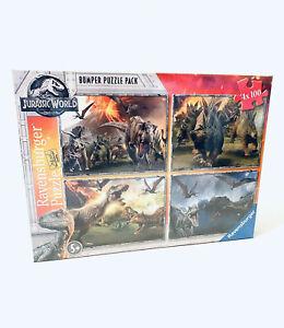 Ravensburger Jurassic World Dinosaur Jigsaw Puzzle Pack 4x 100 NEW IN SHRINK