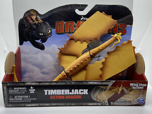TIMBERJACK DRAGON DREAMWORKS DRAGONS HOW TO TRAIN YOUR DRAGON WING CHOP ACTION