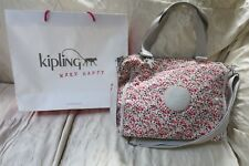 "Kipling Floral Watercolor ""New Shopper"" Convertible Tote Crossbody Purse Handbag"