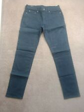 Abercrombie And Fitch Men's Skinny Sateen Pants Navy Blue Colour 32 x 34
