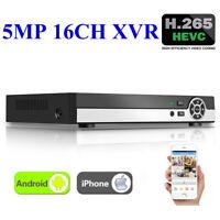 16Channel 5MP H.265+ XVR 5-in-1 DVR AHD CCTV Surveillance Digital Video Recorder