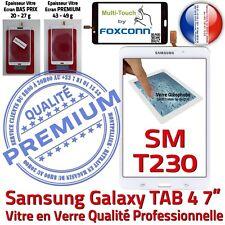 Vitre Tactile SM-T230 TAB 4 Assemblée Adhésif Prémonté Samsung Ecran Blanc
