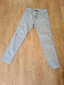 Mens Belstaff Chino Trousers Jeans Beige Pants 33 /33