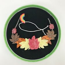 Erstwilder Whatever The Weather - Foliage Follies Necklace Limited Edition New