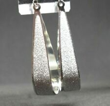 Acrylic Sliver Plated Stone Druzy Crystal Delicate Lightweight Earrings Lady BS