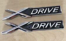 2x XDRIVE Metal Chrome Boot Badge Emblem Logo 1 3 4 5 6 7 Series X5 M3 M5 i D