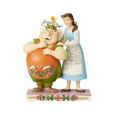 New Jim Shore Disney Figurine Belle Maurice Inventor Father Statue Beauty Beast