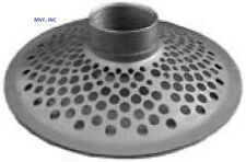 """SKIMMER STRAINER ROUND HOLE TOP 3"""" FEMALE NPT PLATED STEEL SUCTION HOSE SK35TH"""