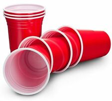 American 12pc 510ml Red Plastic Cups Beer Pong Shot Drinking Games Disposable