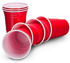 American 12pc 510 ML Rosso Bicchieri Di Plastica Bere Birra Pong shot giochi usa e getta