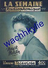 La semaine radiophonique n°8 du 23/02/1958 Maryse Martin