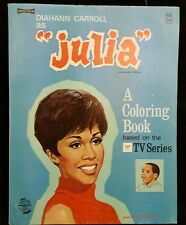 Vintage Saalfield Diahann Carroll as JULIA  Coloring Book 1968 In Great Cond.
