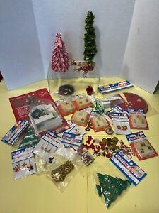 Vintage Christmas Decor & Crafting Items Many NOS Dollhouse Miniature 1:12