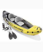 NEW Intex K2 Explorer 2 Person Inflatable Kayak + Oars, Pump, Bag ✅FREE SHIPPING