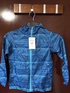 9-10 Yr Rain Coat Jacket Kag-In-A-Bag Packable Hooded Cagoule School Camping