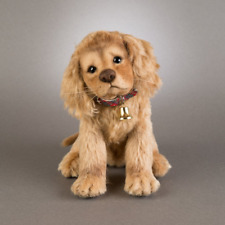 R John Wright Christmas Puppies Taffy dog