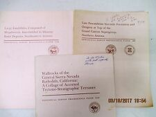 ARIZONA Geological Survey Papers with Maps, US Dept of Interior