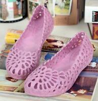 New Womens Jelly Hollow Out Slip On Sandals Ventilate Summer Beach Loafers Shoes