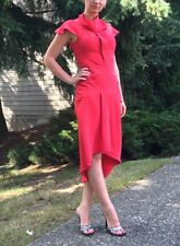 Vintage Red Opera Crepe Dress Sz S 2 ( inspired by Roland Mouret style)