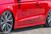CUP Seitenschweller Schweller Sideskirts ABS für Audi A1 8X S-Line Facelift