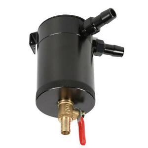 2-Port Verdutzt Aluminiumlegierung Oil Catch Can Reservoir Tank mit Ablassve SL#