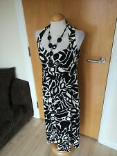 Ladies Dress Size 14 ROMAN Black White Party Evening Wedding Stretch Beads