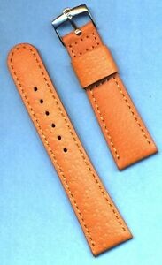 NEW 20mm GENUINE WILD BOAR STRAP, LEATHER LINED & NEW ROLEX STEEL BUCKLE